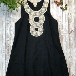 ANTHROPOLOGIE EYEDOLL Black Linen Sleeveless Dress